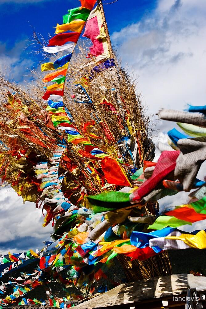 Pray Flags Zhongdian by ianclavis