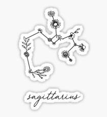 Schütze-Sternzeichen-Wildblume-Konstellation Sticker