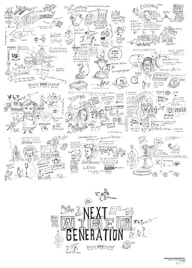 Wired Next Generation 2017 Sketchnotes by Hans Gerhard Meier