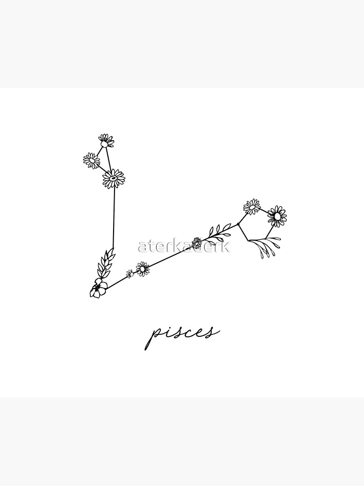 Pisces Zodiac Wildflower Constellation by aterkaderk