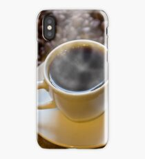 Morning Hot Coffee iPhone Case/Skin