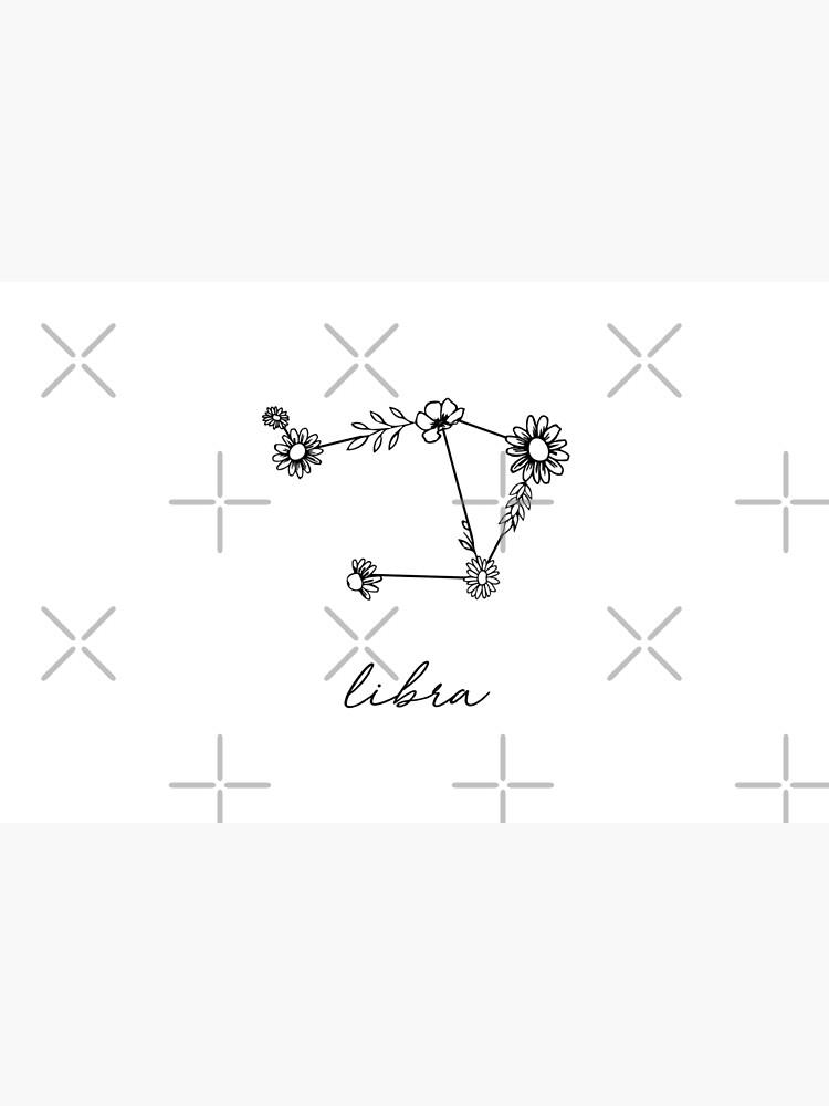 Libra Zodiac Wildflower Constellation by aterkaderk