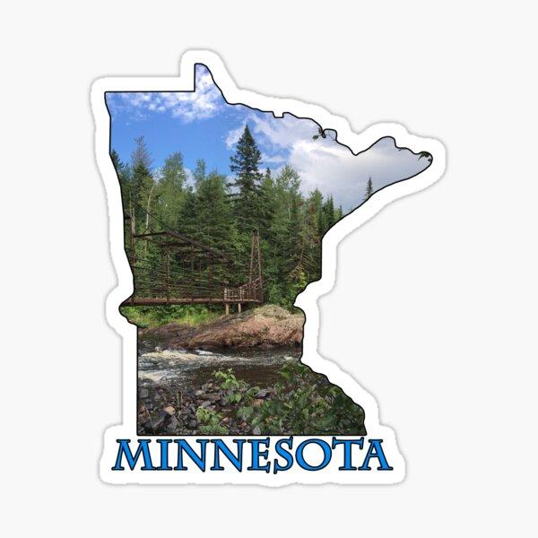 State of Minnesota Outline Sticker