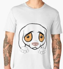 german shorthaired pointer white peeking cartoon Men's Premium T-Shirt