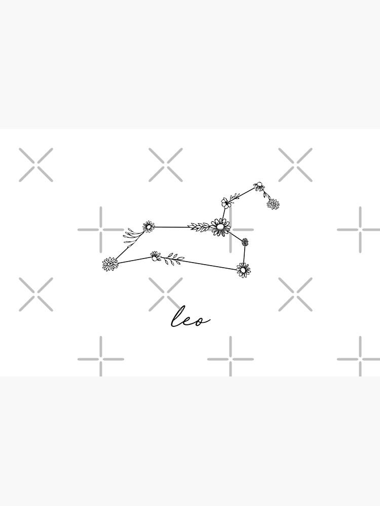 Leo Zodiac Wildflower Constellation by aterkaderk