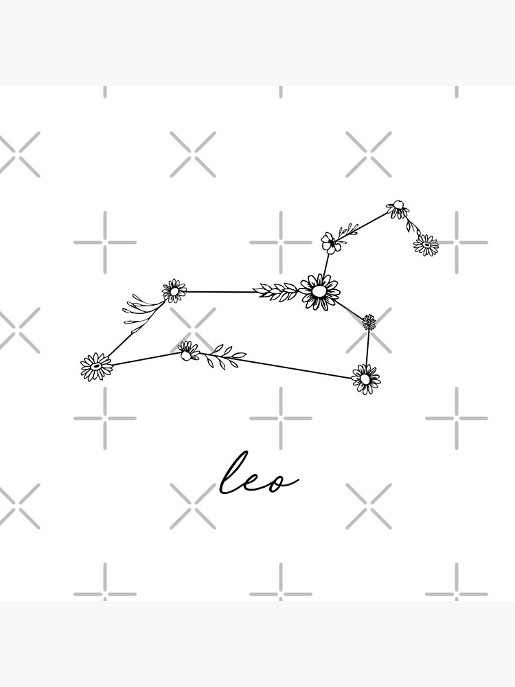 Leo Zodiac Wildflower Constellation by aterkaderk