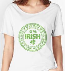 0% Irish St. Patrick's Day Women's Relaxed Fit T-Shirt