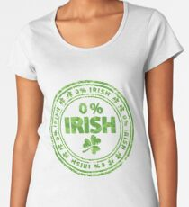 0% Irish St. Patrick's Day Women's Premium T-Shirt