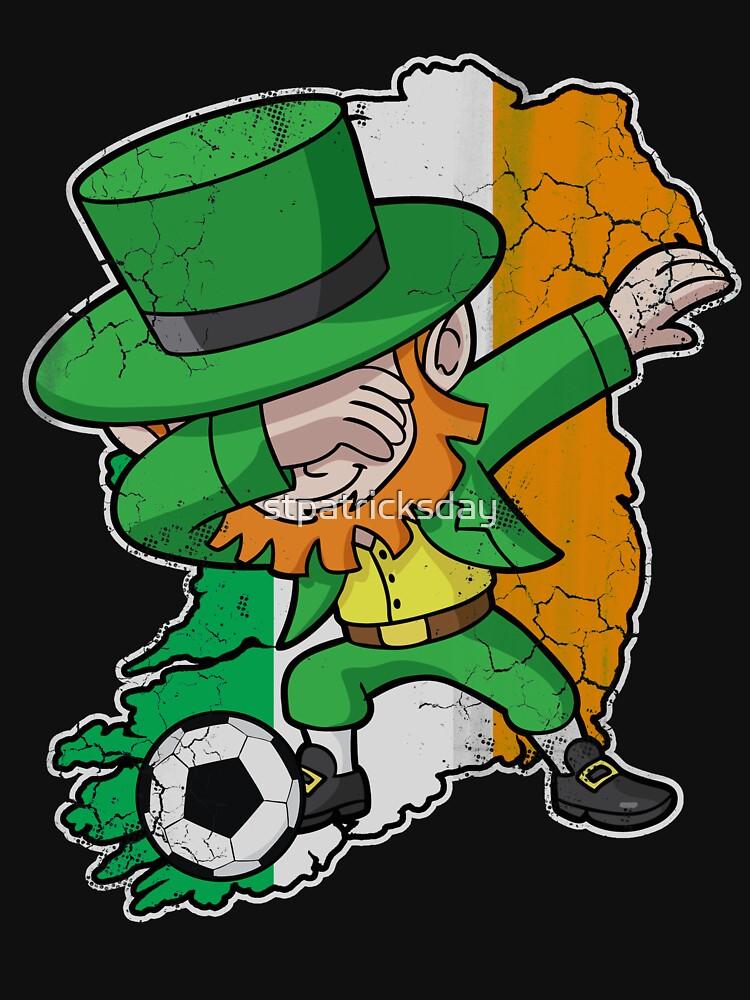 Dabbing Leprechaun Soccer Dab by stpatricksday