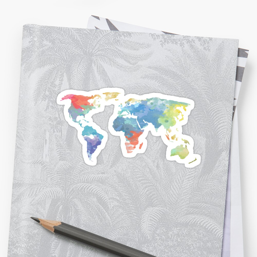 World map in beautiful colours by xavierreis