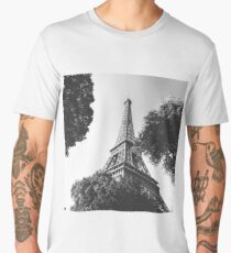 Black and White Tower Looking Up Men's Premium T-Shirt