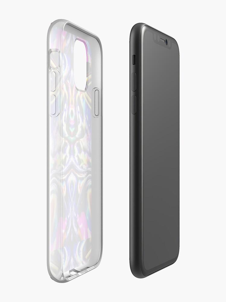 coque lumineuse | Coque iPhone «Hérisson de l'espace psychédélique», par JLHDesign