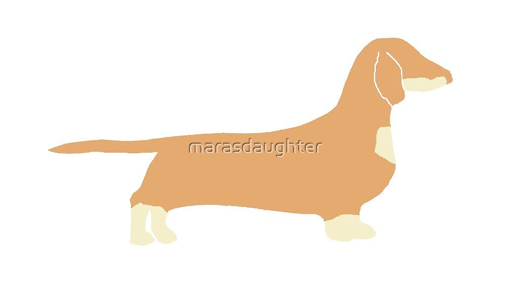 dachshund fawn and cream silhouette by marasdaughter