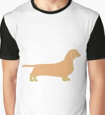 dachshund fawn and tan silhouette Graphic T-Shirt