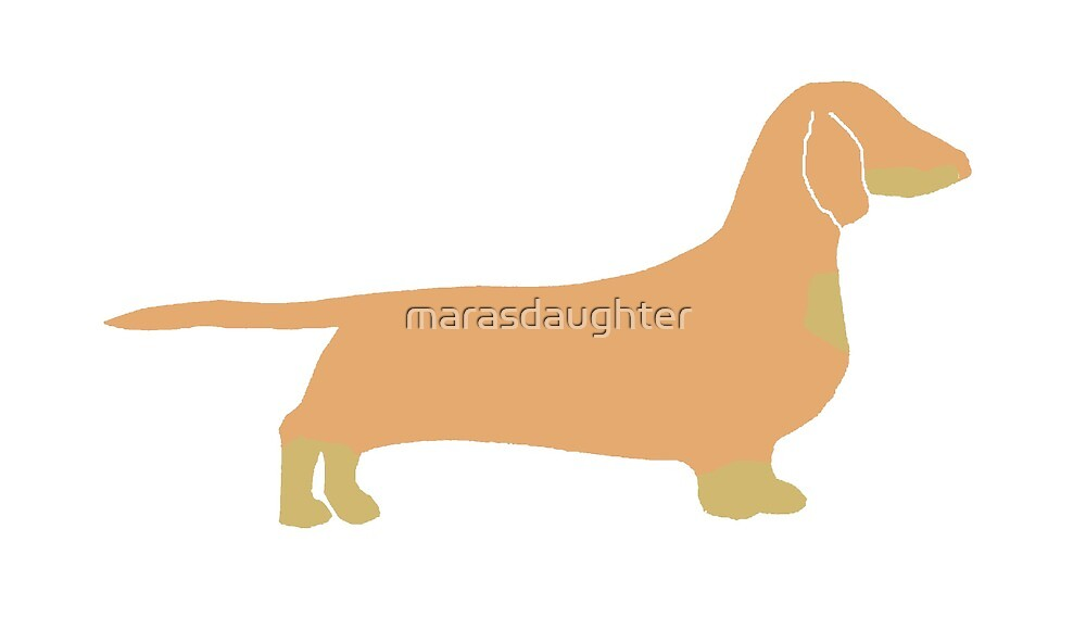 dachshund fawn and tan silhouette by marasdaughter