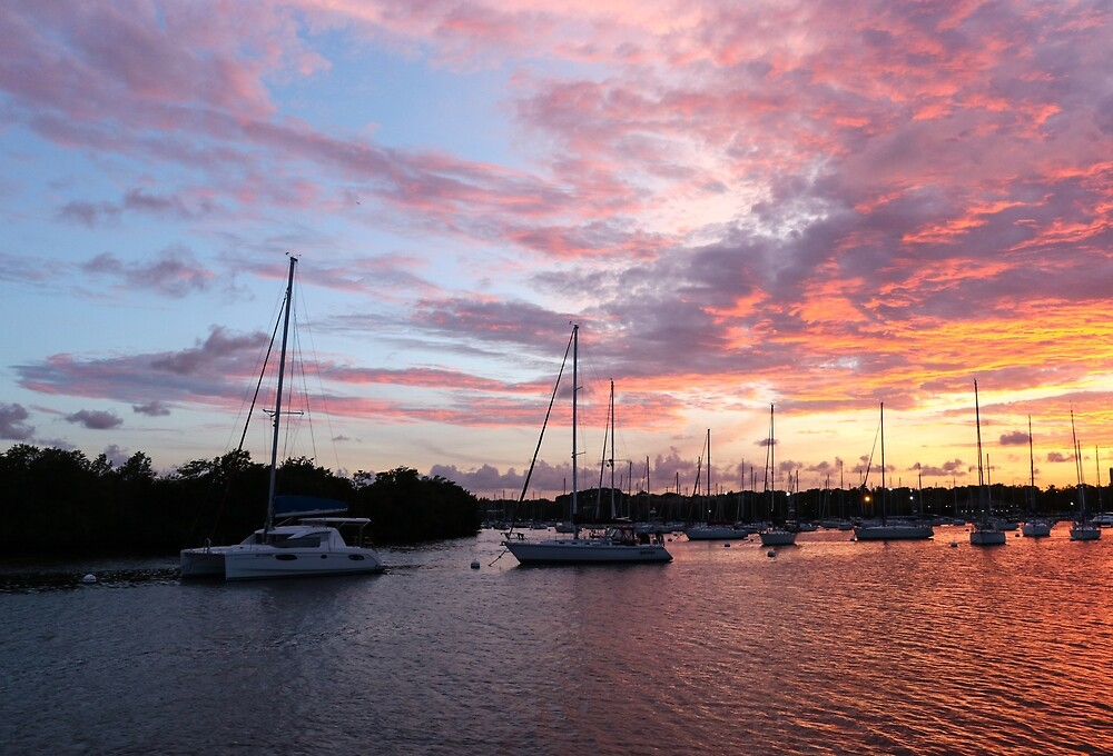 Coconut Grove Sunset by CaptainEd