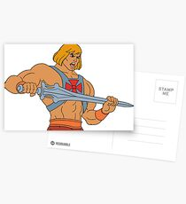 He-man Filmation style Postcards