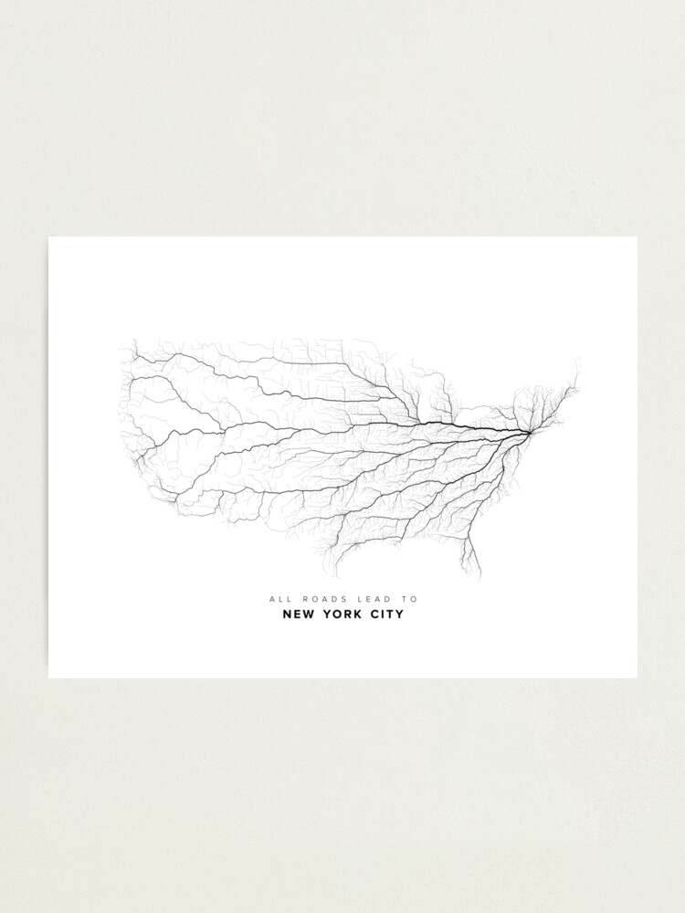Alternate view of All Roads Lead to New York City Photographic Print