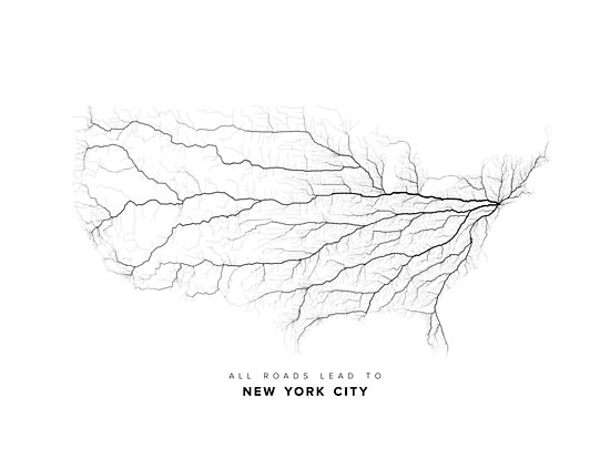 All Roads Lead to New York City by LaarcoStudio