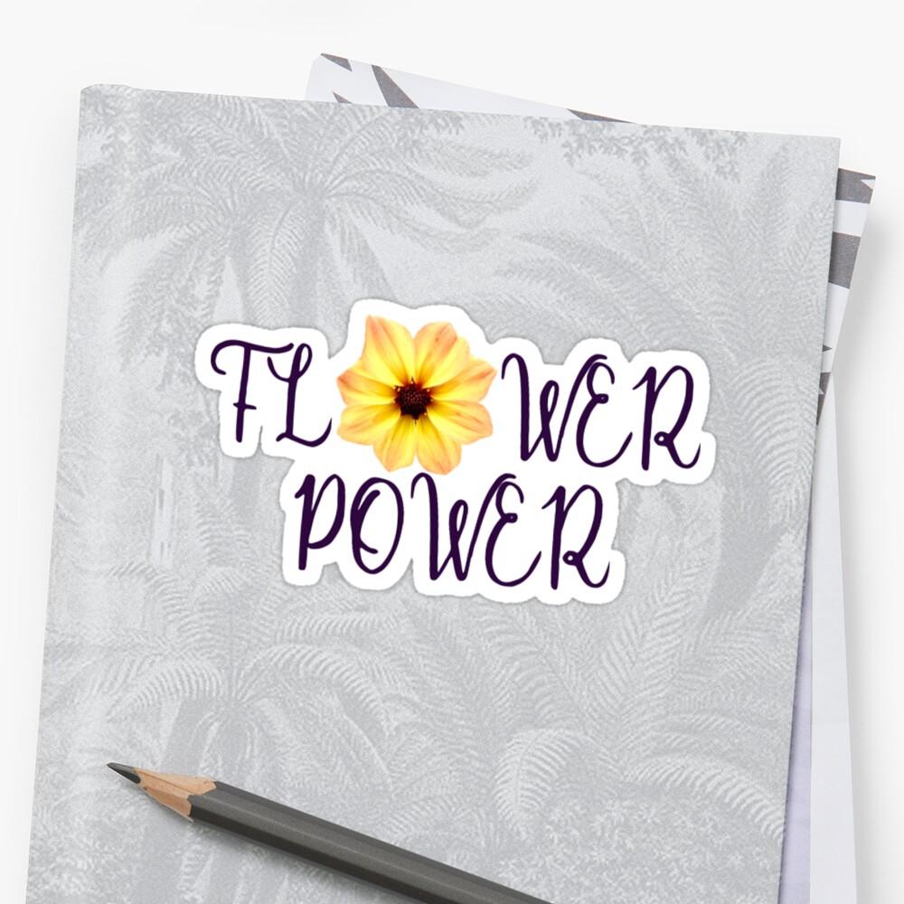 Flower Power Sticker by Jackie Sullivan