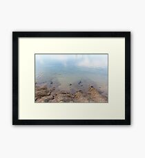 Perfect Droplet Ripple Framed Print