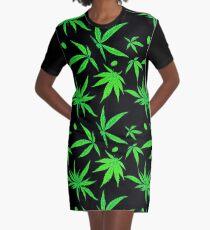 Marijuana leaf Graphic T-Shirt Dress
