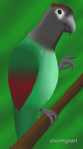 Happy Parrot, Happy Tree by shunmyoart
