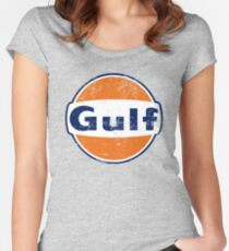 Gulf Racing Retro Women's Fitted Scoop T-Shirt