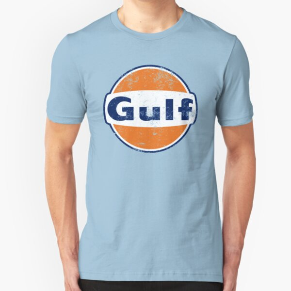 Gulf Racing Retro Slim Fit T-Shirt