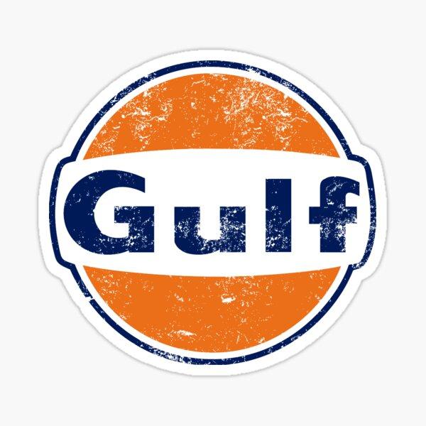 Gulf Racing Retro Sticker