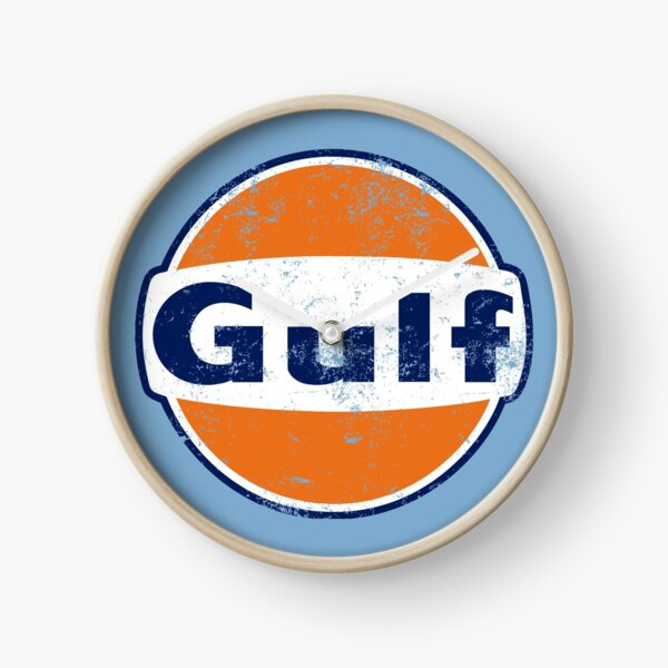 Gulf Racing Retro Clock