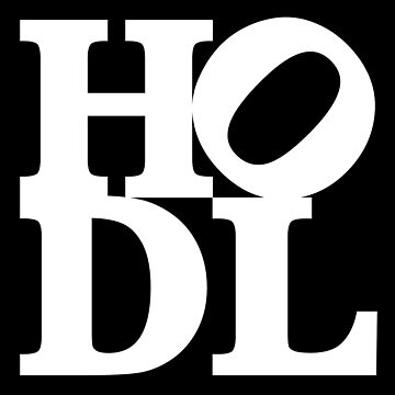 Hodl Logo -  white text - Hodl  Bitcoin Meme by vintagegraphic