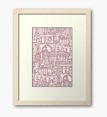 Ancient Greece cherry pearl Framed Print