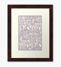 Ancient Greece purple pearl Framed Print