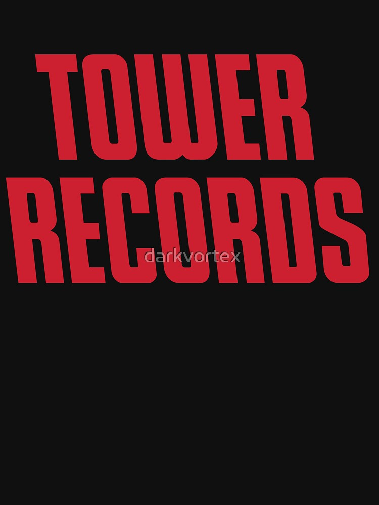 TOWER RECORDS TSHIRT - Defunct Record Store Logo by darkvortex