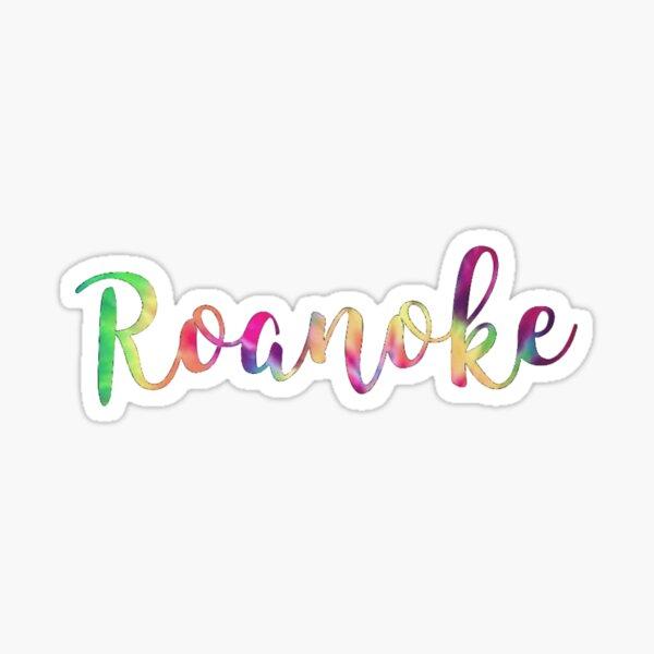 Roanoke Tie Die Sticker