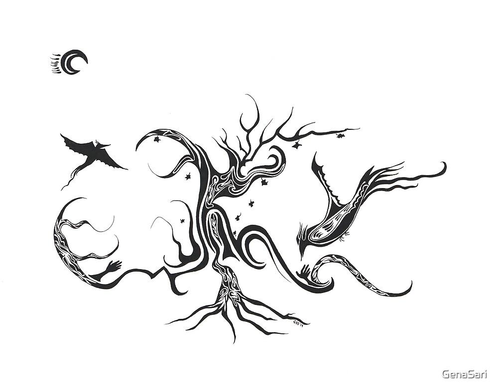 Flight of the Night Birds by GenaSari
