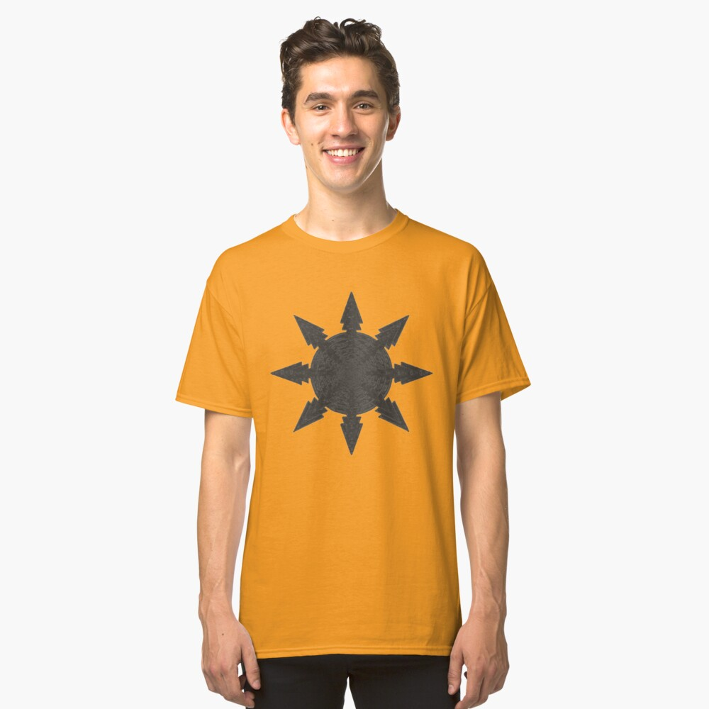 Abstract black shield Classic T-Shirt Front