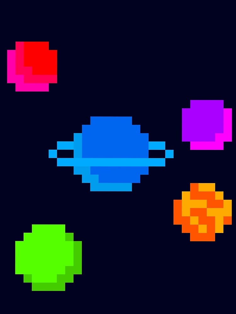 Pixel Planets by OnCloud99