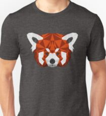 Geometric Red Panda Head  Unisex T-Shirt