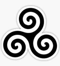 triple spiral / triskele Sticker