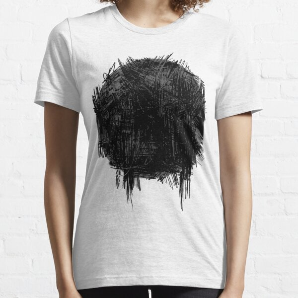 Grey Circle with Black 1 Essential T-Shirt