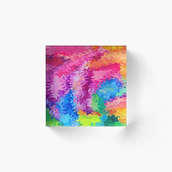 FUN!FUN!FUN! - Abstract Acrylic Block