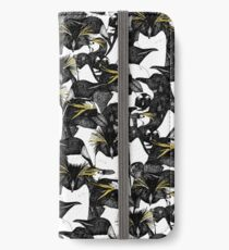 just penguins black white yellow iPhone Wallet/Case/Skin