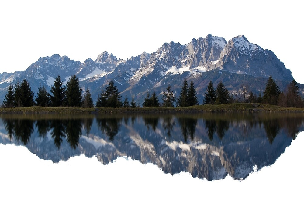 Reflected Austrian Mountains by designedinbed