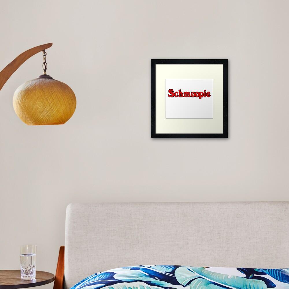 Schmoopie sticker  Framed Art Print