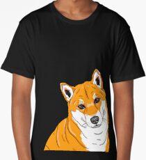Shiba Inu Portrait Long T-Shirt