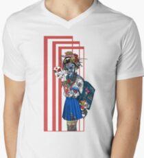 cyberpunk girl Men's V-Neck T-Shirt
