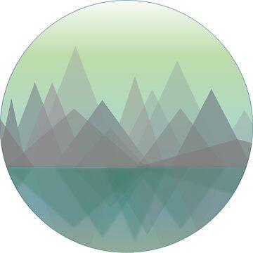 Mountain View Lake Reflection by WakefulNotions