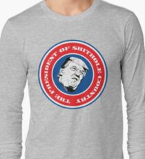 The President of $hithole Country (Blue/White/Red) Long Sleeve T-Shirt